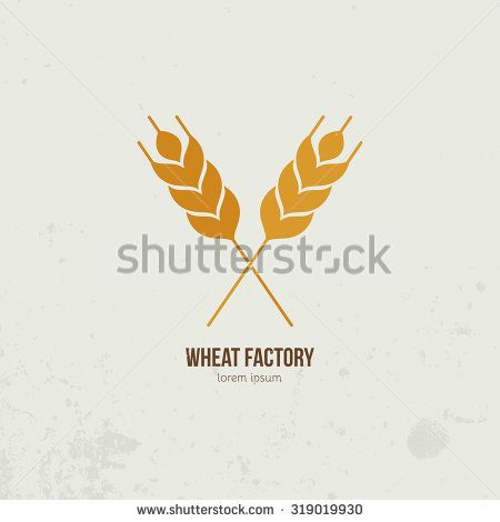 Modern logo with crossed wheat.
