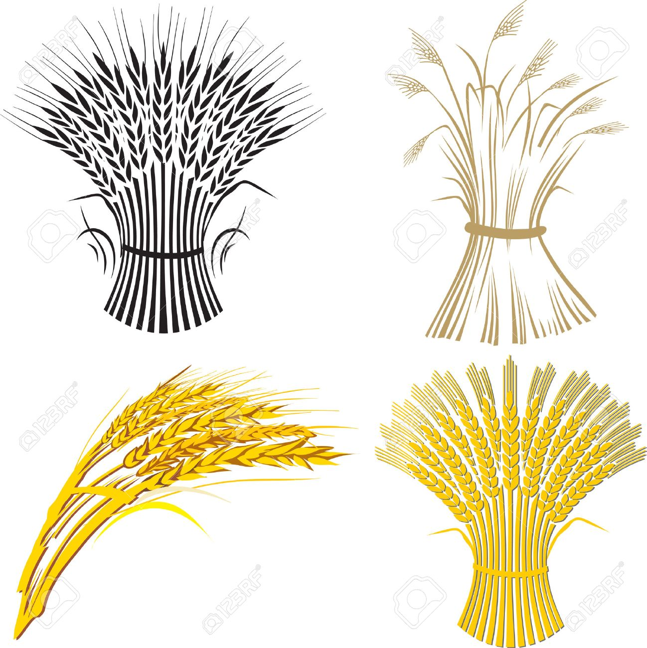 four wheat sheaf.