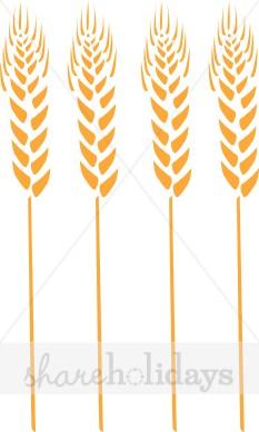 Four Wheat Stalks Clipart.