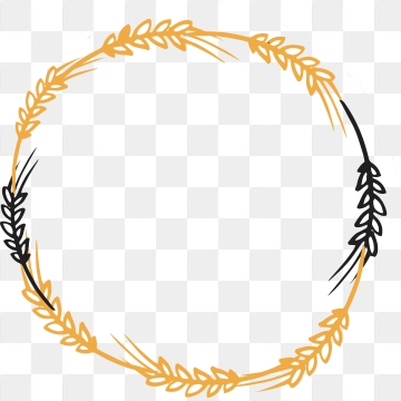 Wheat Wreath PNG Images.