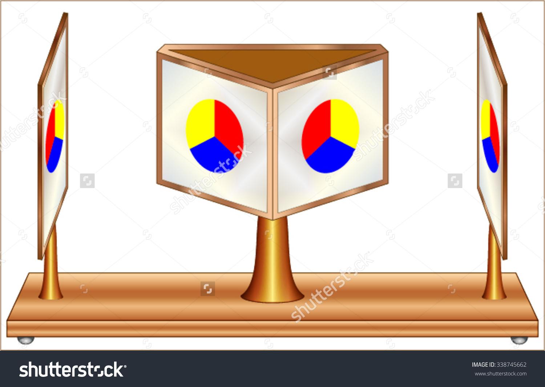 Wheatstone Stereoscope Stock Vector Illustration 338745662.