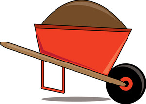 203 Wheelbarrow free clipart.
