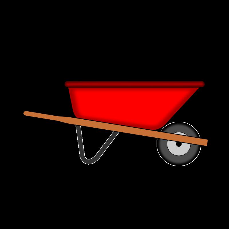 Gardening clipart wheelbarrow, Gardening wheelbarrow.
