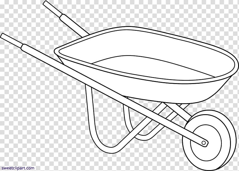 Wheelbarrow Line art Drawing Garden , wheel barrow.