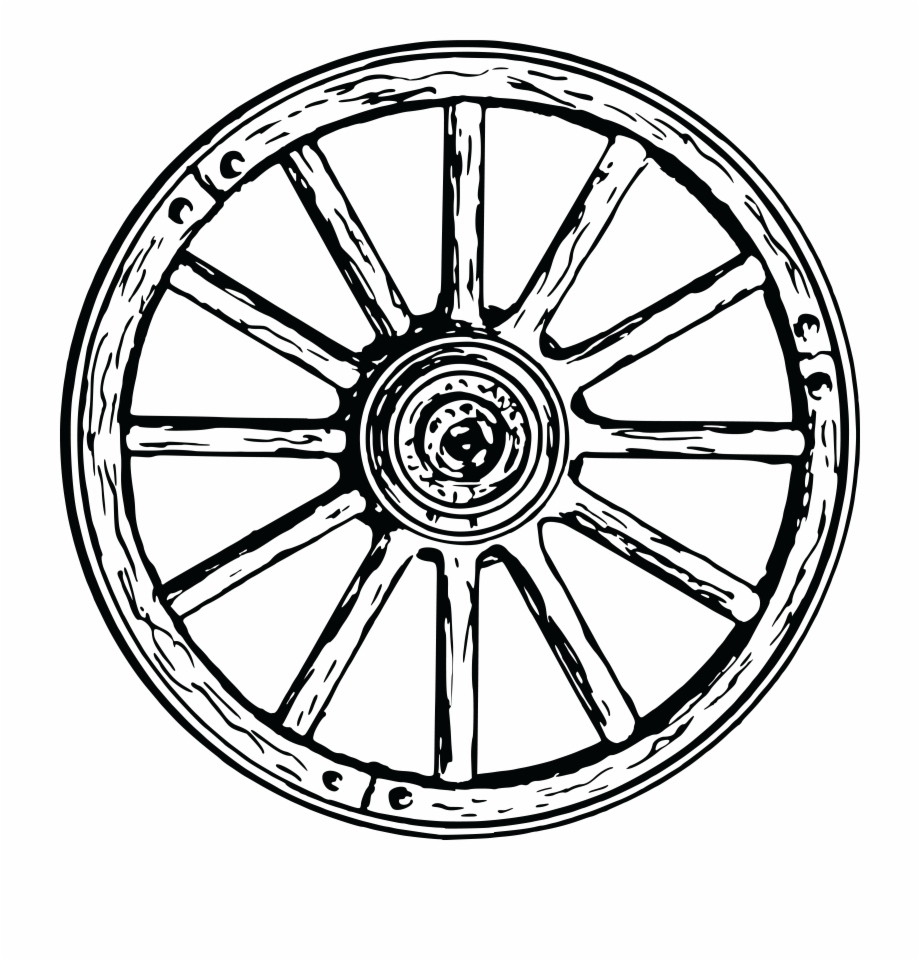 Free Wheel Black And White Clipart, Download Free Clip Art.
