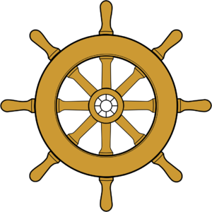 Pirate ship wheel clipart.