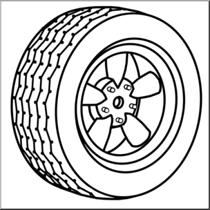 Wheel clipart black and white 4 » Clipart Station.