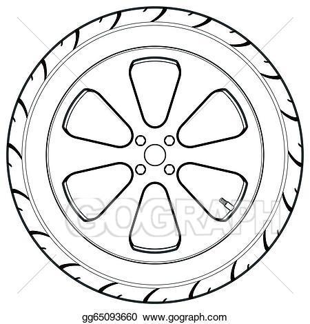 Wheel clipart black and white 2 » Clipart Portal.