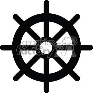 ship steering wheel vector icon . Royalty.