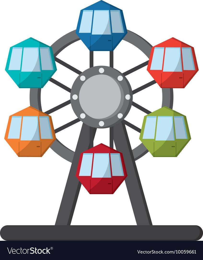 Ferris wheel icon icon.