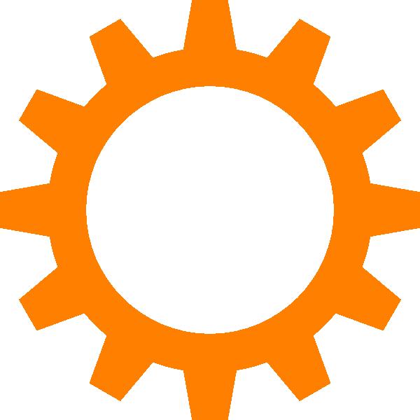 Orange Cog Wheel Clip Art at Clker.com.