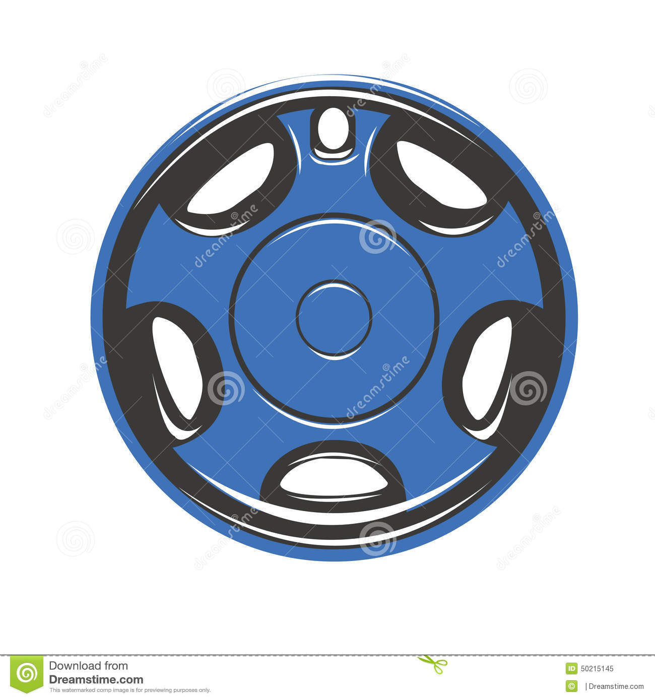 Car Wheel Covers Stock Illustration.