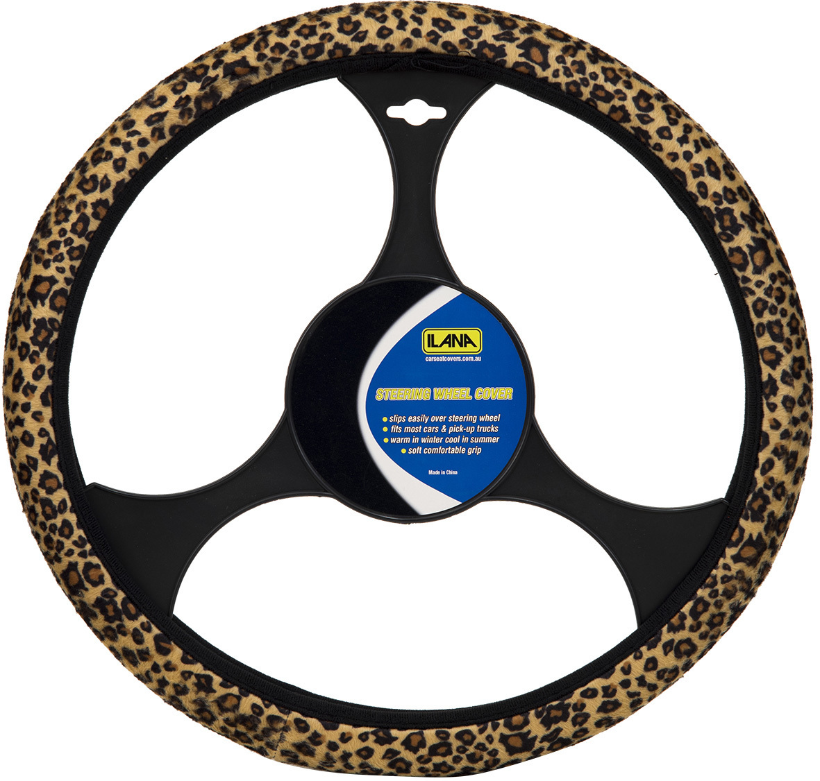 Wild Leopard Steering Wheel Cover.