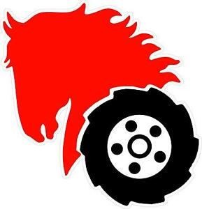 Details about WHEEL HORSE HEAD CONTOUR CUT DECAL.