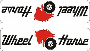 Details about PAIR OF WHEEL HORSE GARDEN TRACTOR DECALS 1L & 1R.