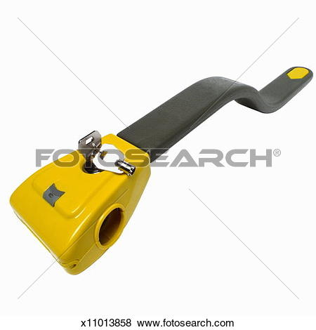 Pictures of Elevated view of a steering wheel lock x11013858.