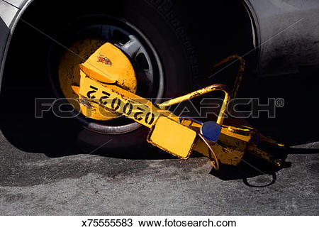 Stock Photo of Wheel lock, Paris, France x75555583.