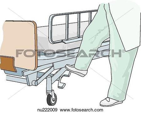 Stock Illustration of Healthcare professional shown from waist.