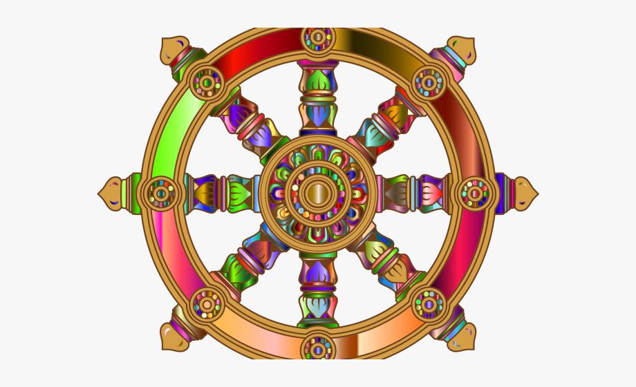 Dharma Wheel Buddhist Flag , Transparent Cartoon, Free.