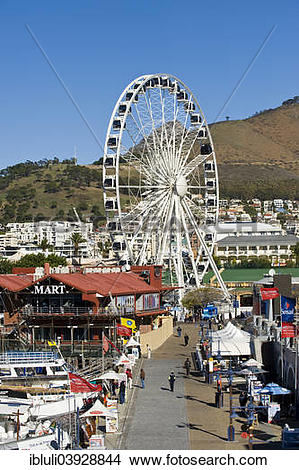"Stock Photo of ""Wheel of Excellence at V&A waterfront, Cape Town."