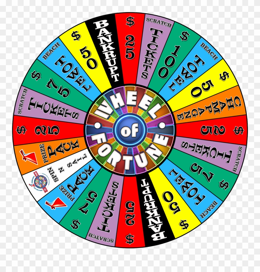 Wheel Of Fortune Carnival Game.