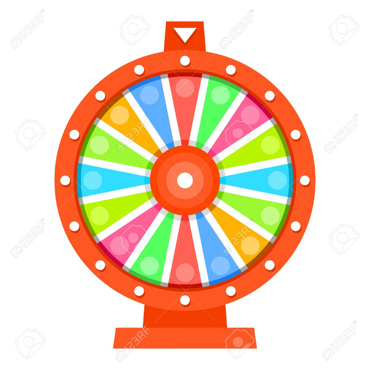 Wheel of fortune flat design template.