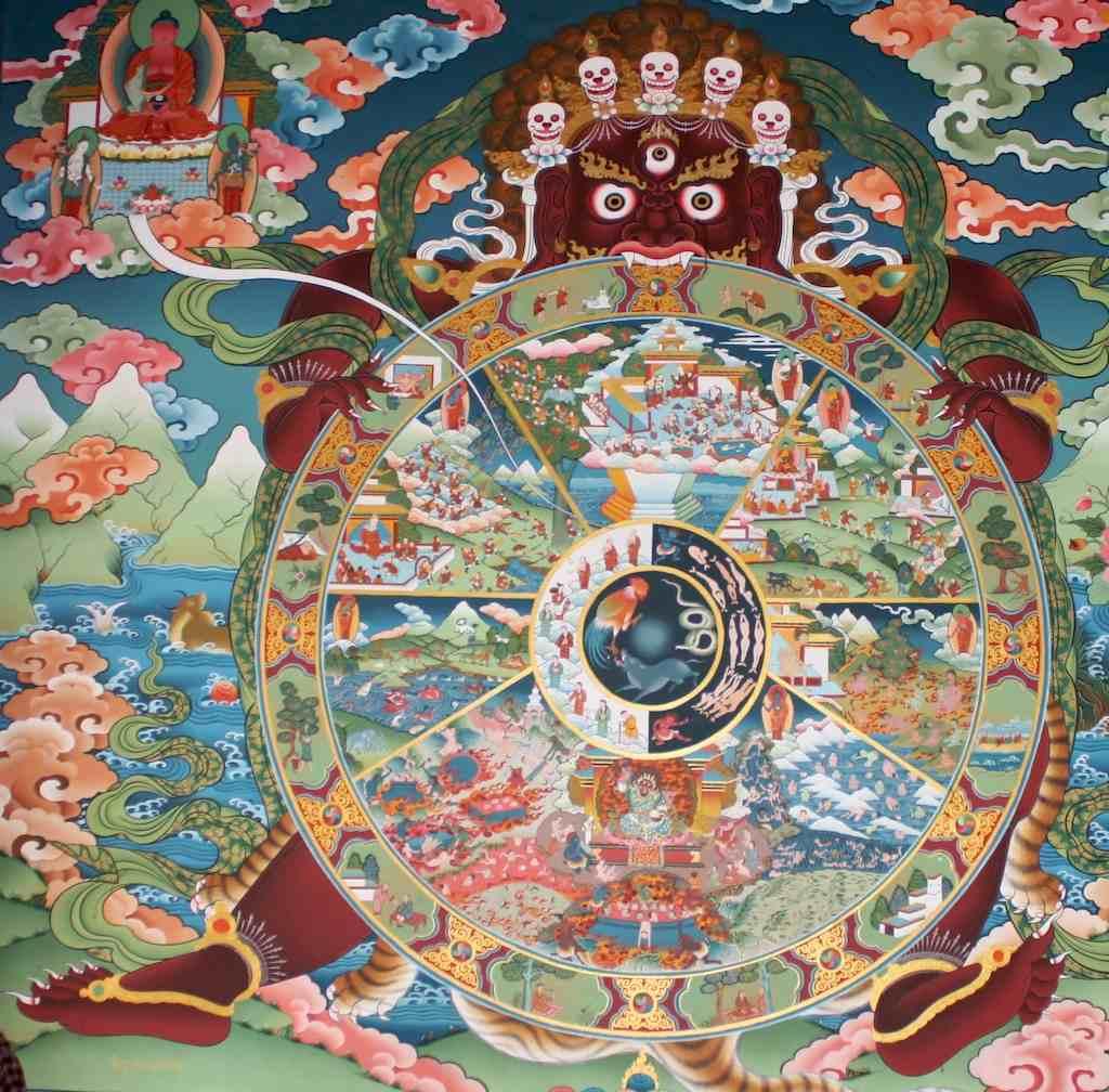 Hindu Wheel of Life Clip Art.