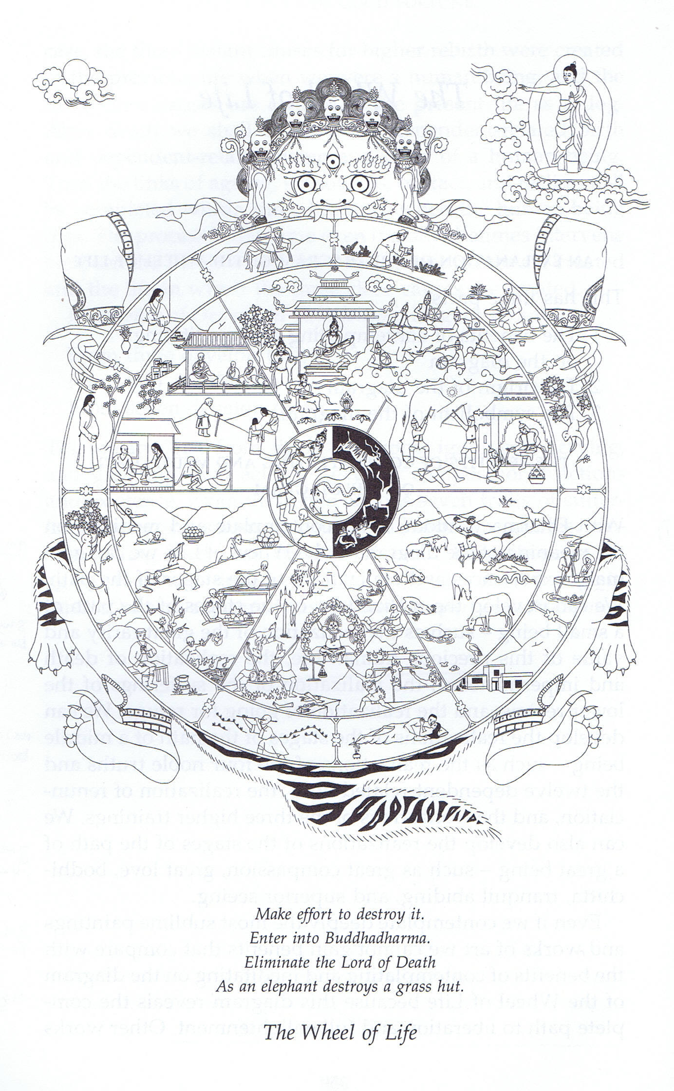 For Life Clip Art of Wheel of Samsara.
