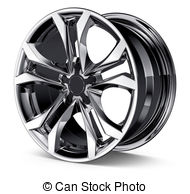 Wheel rims clipart #2