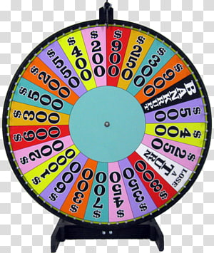 Wheel Of Fortune Video Games transparent background PNG.