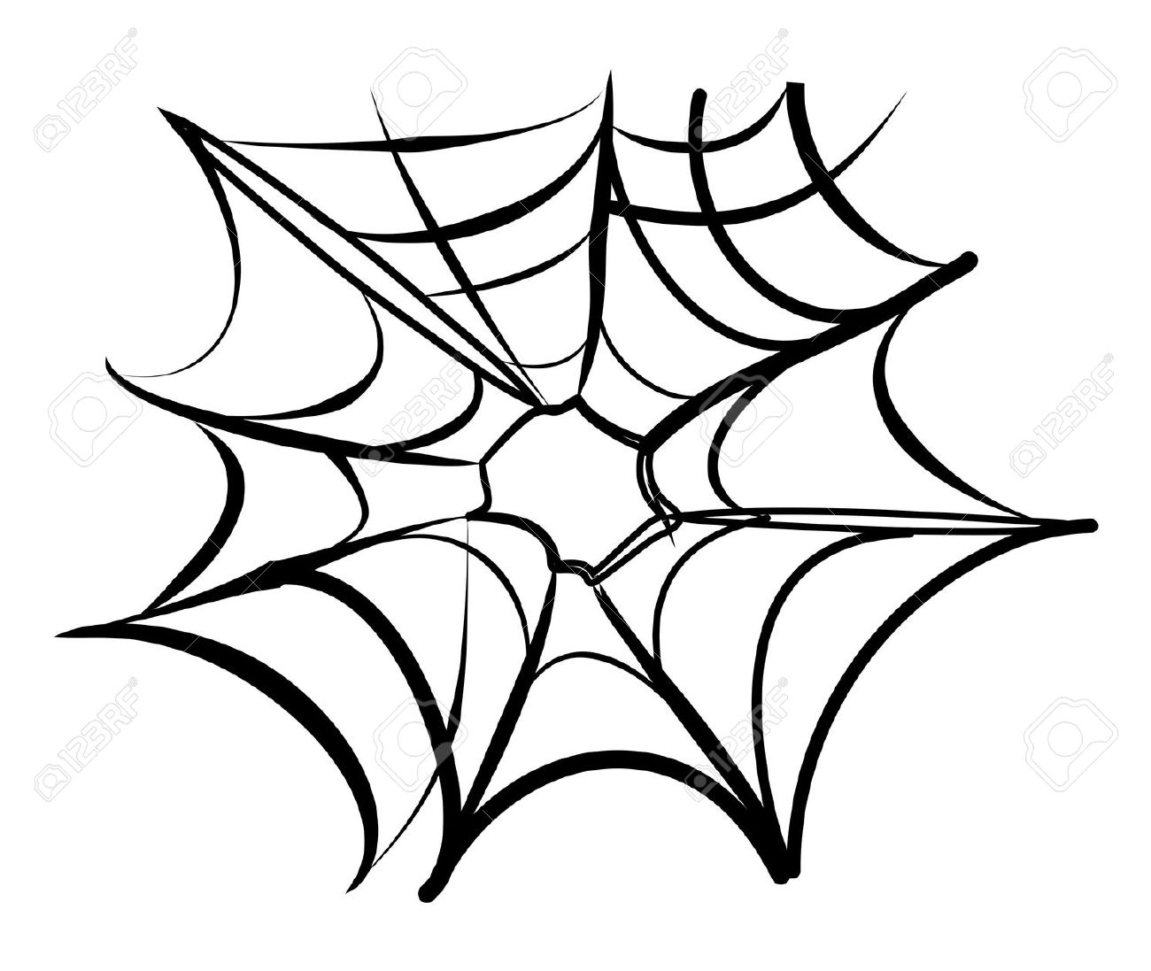 Spider Web Background Black And White Royalty Free Cliparts.