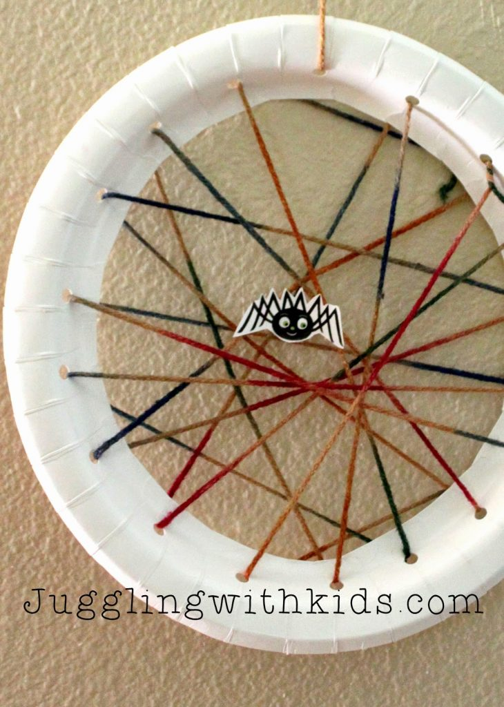 Paper Plate Spider Web: Virtual Book Club for Kids: Eric Carle.