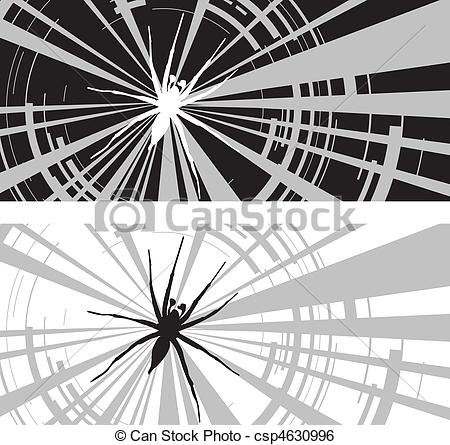 Clip Art Vector of spider web.