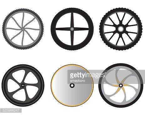 bicycle wheels without spokes Clipart Image.
