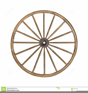 Wheel With Spokes Clipart.