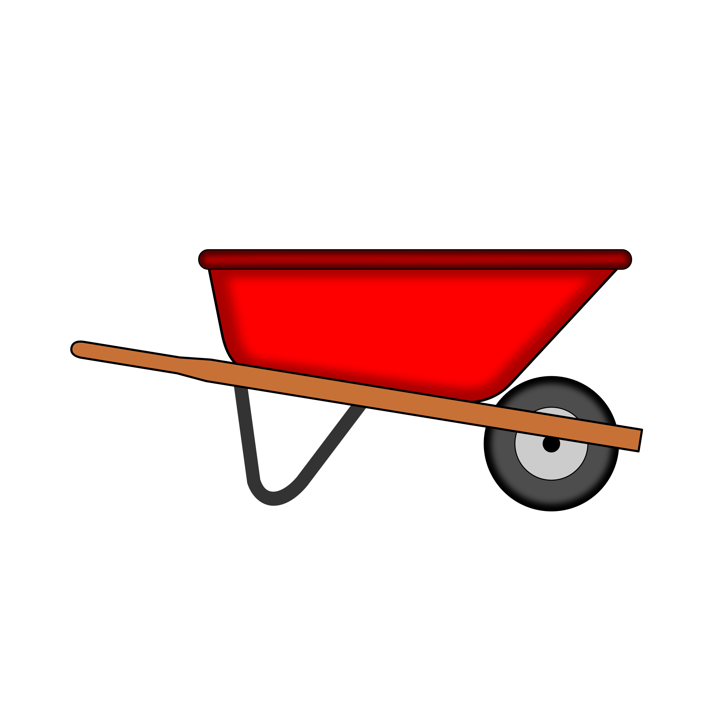 Red WheelBarrow Vector Clipart image.