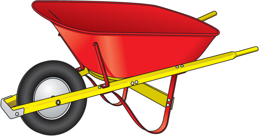 Wheelbarrow clipart png.
