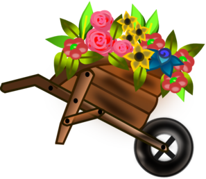 Wheelbarrow Of Flowers Clip Art at Clker.com.