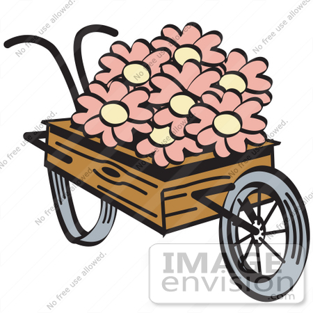 Showing post & media for Cartoon flower wheelbarrow.