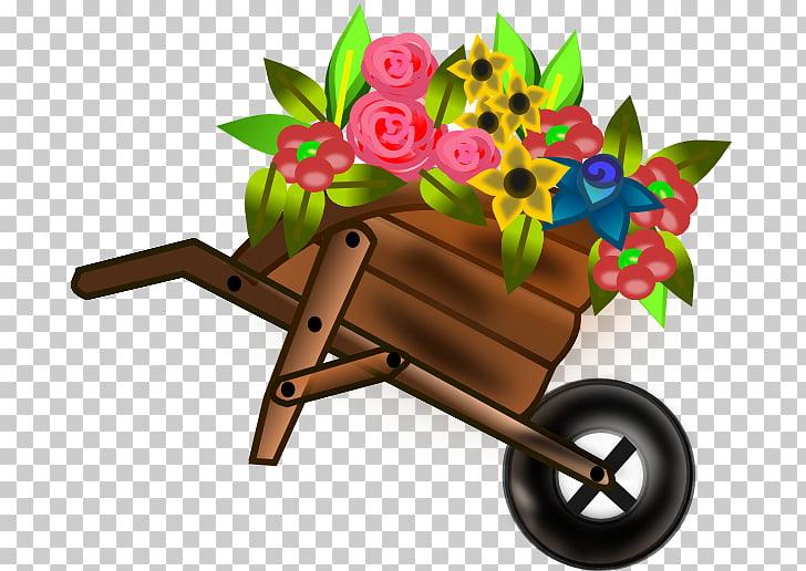 Wheelbarrow race Flower , Wheelbarrow s PNG clipart.