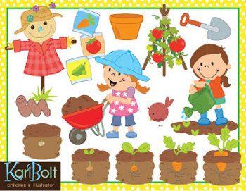 Gardening Vegetables Clip Art.
