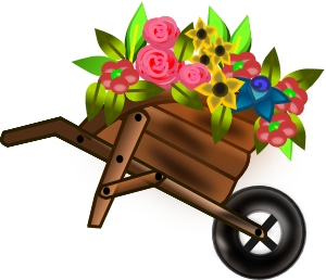 Flower Wheelbarrow Clip Art at Clker.com.