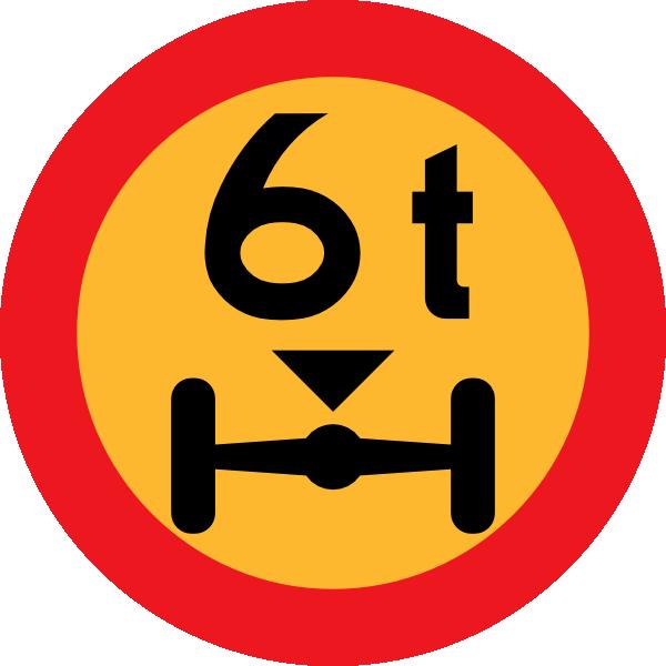 6t Wheelbase Sign clip art Free Vector / 4Vector.