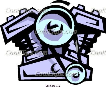 Engine block clip art.
