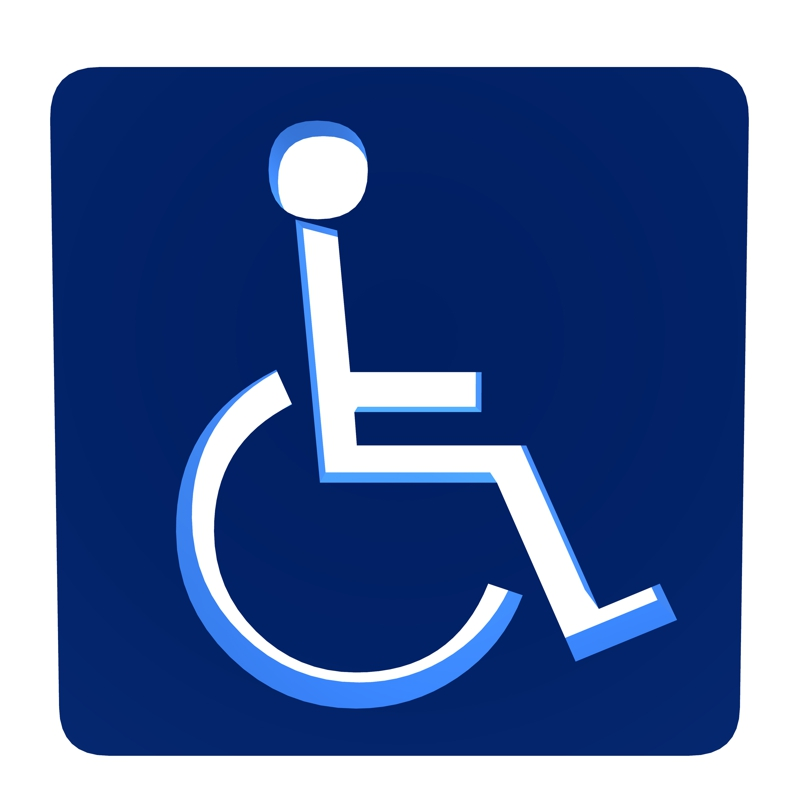 Wheelchair Accessible Sign.