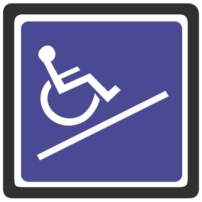 Wheelchair accessible vector sign.