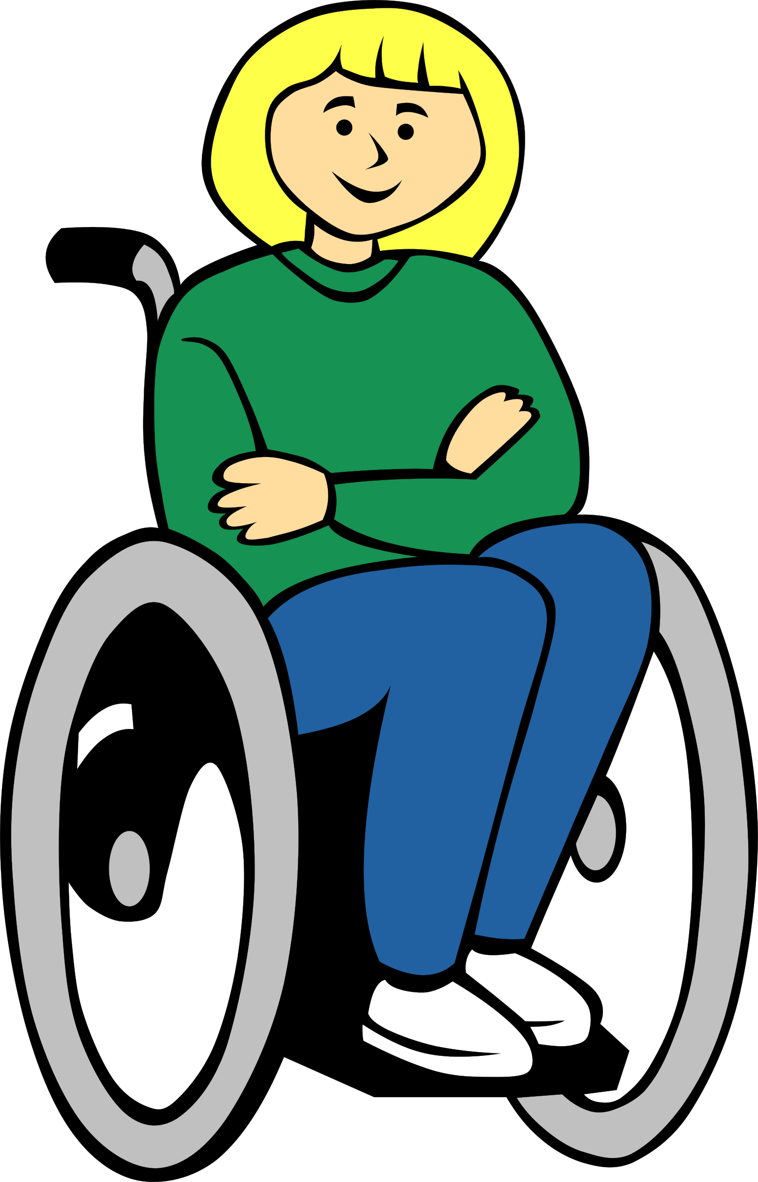 Girl in wheelchair clipart clipart images gallery for free.