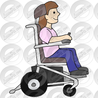 Wheelchair Picture for Classroom / Therapy Use.