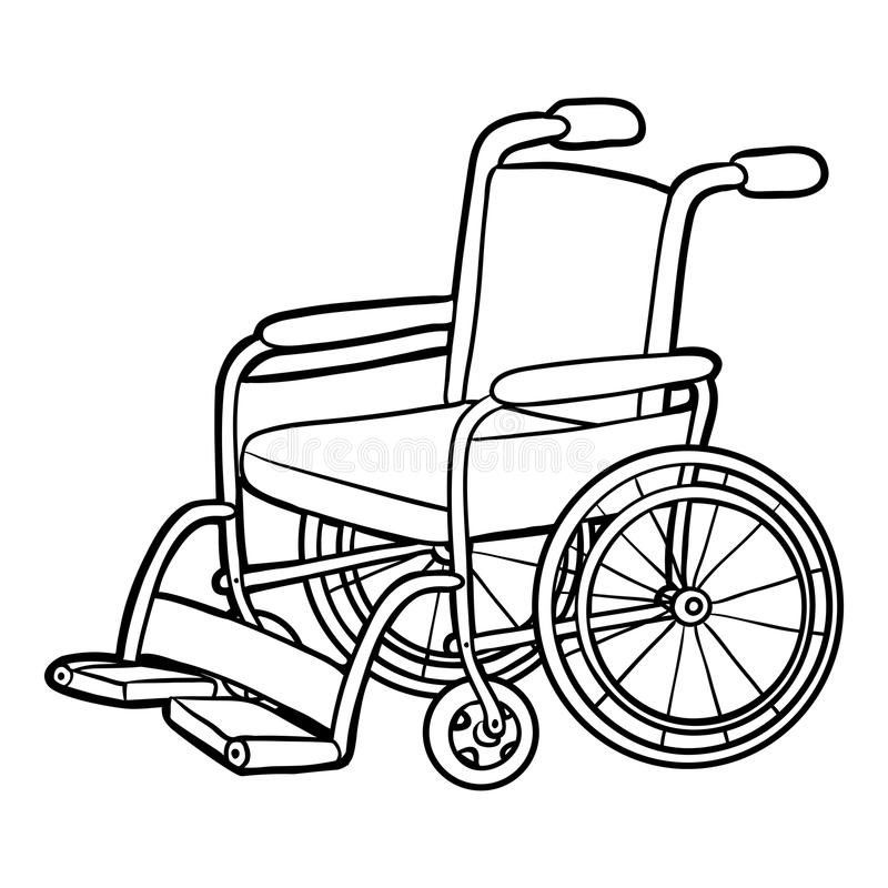 Coloring Wheelchair Stock Illustrations.