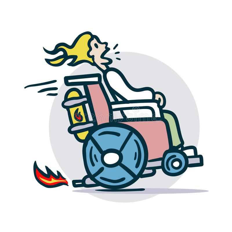 Funny Wheelchair Stock Illustrations.